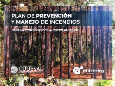 CODESAL COMENZO LOS TRABAJOS PARA LA PREVENCION DE INCENDIOS EN EL PERILAGO